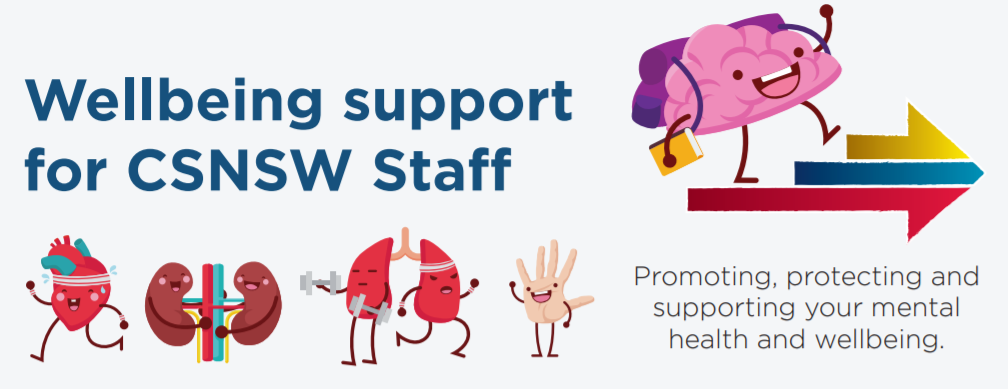 Wellbeing support for CSNSW staff